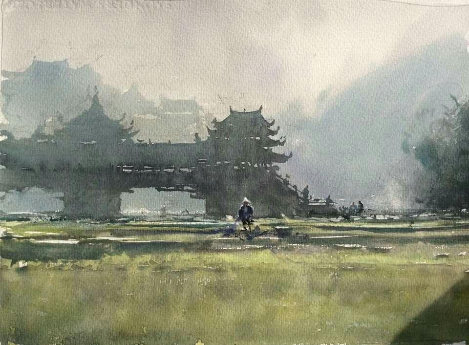 Joseph Zbukvic China Watercolor Architecture Joseph Zbukvic