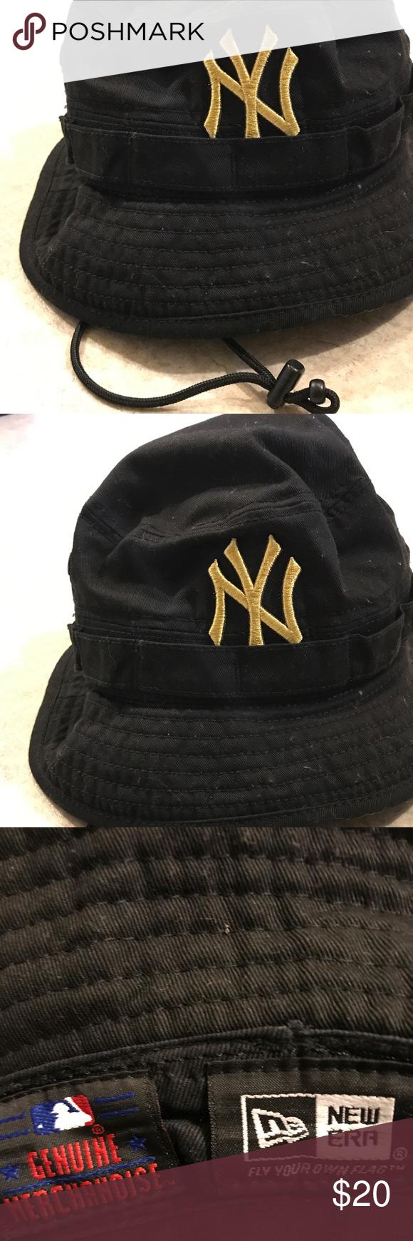 Black Gold New Era Ny Yankees Mlb Bucket Hat Xl Genuine New Era Men S Bucket Hat Size Xl With Yankees Fashion Tips Fashion Design
