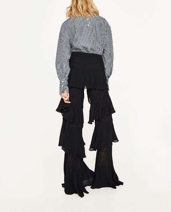 Imagen 4 De Pantalon Volantes De Zara Pantalones Con Volantes Moda Pantalones