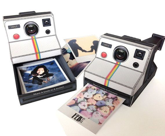 polaroid camera inspired diy box camera box door simplyeverydayme