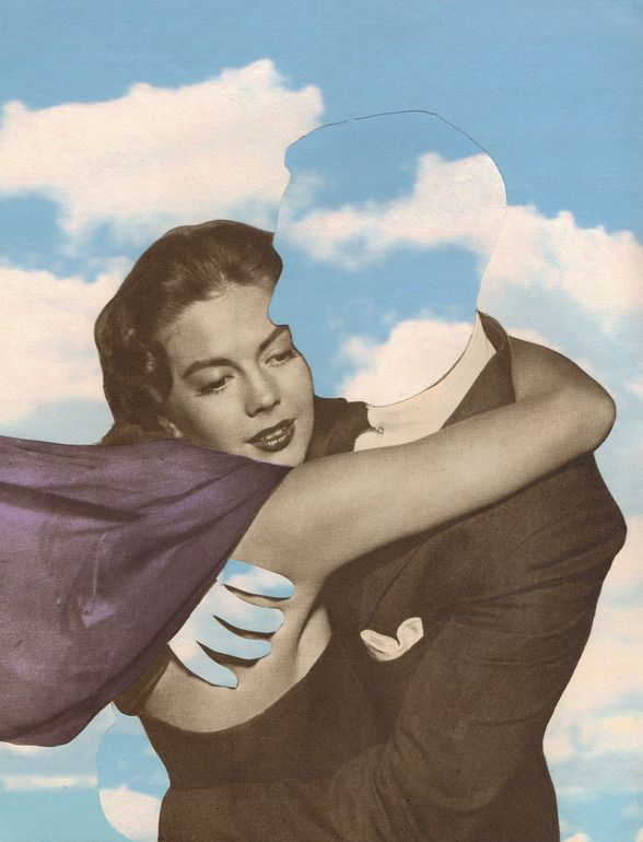 "It's like holding heaven Joe Webb; Photomontage, 2012, Assemblage / Collage ""Daydream IV"""