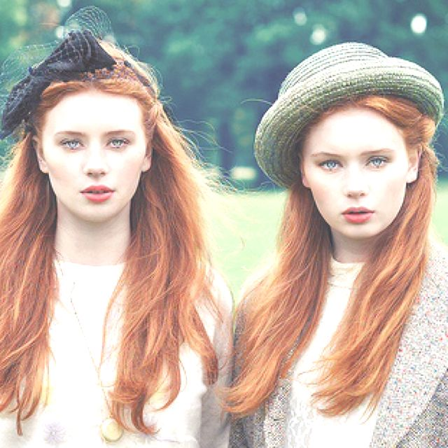ginger twins. hair