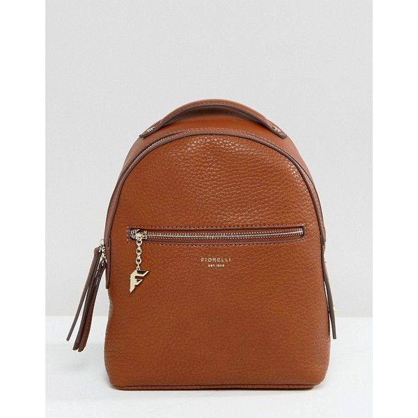 Fiorelli Mini Anouk Tan Tumbled Backpack ( 75) ❤ liked on Polyvore  featuring bags