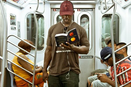 The Underground New York Public Library.  A photo blog of people reading on the New York Subway.  So freakin' cool!