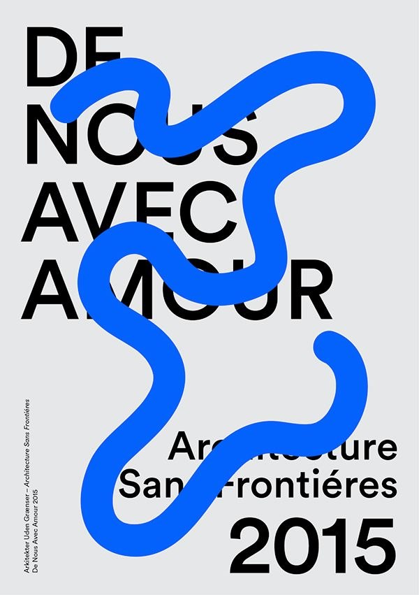 Architecture Sans Frontieres On Behance Typography Poster Typographic Poster Graphic Design Typography