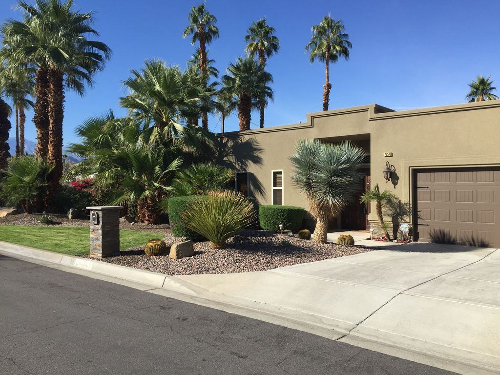 Clear Blue Sunny Skies Outdoor Decor Palm Desert Patio