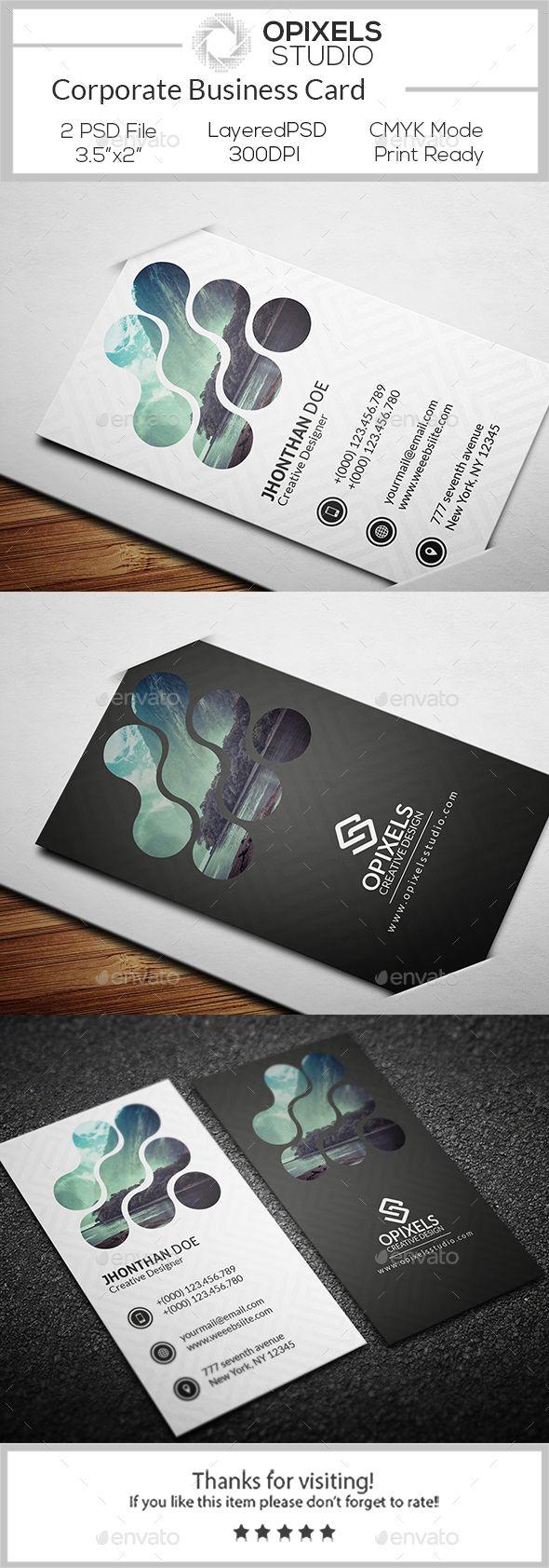 Corporate Business Card Template Psd Business Card Branding Business Card Design Business Card Inspiration