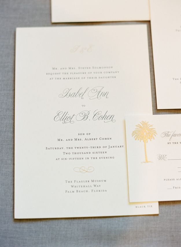 beach wedding invitation examples%0A Letterpress Wedding Invitations for Palm Beach Wedding  photo by Kat Braman
