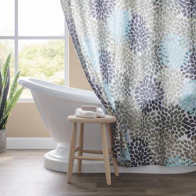 House Of Hampton Heaton Single Shower Curtain Color Aqua Blue