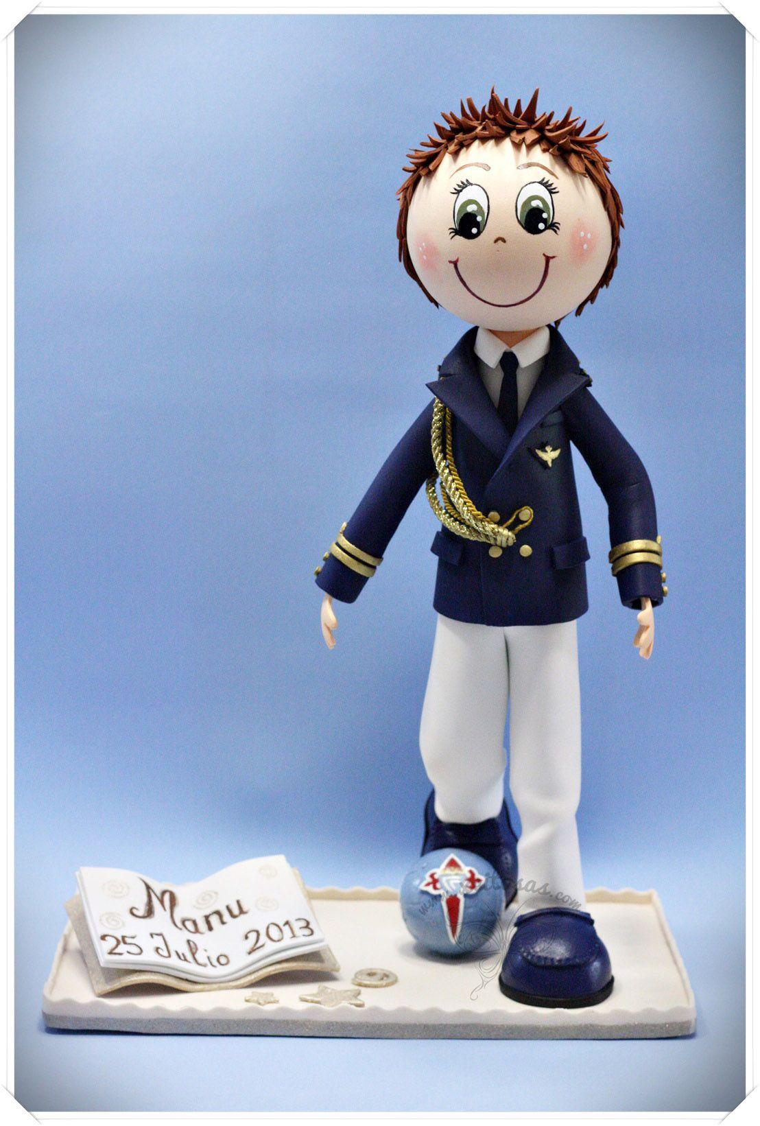 Fofucho de Comunión con su traje de almirante b6362941ad90e
