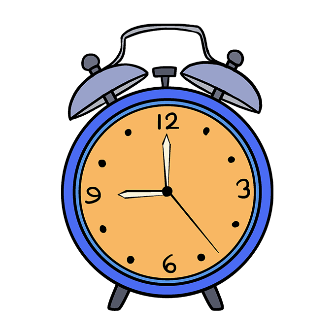 How To Draw An Alarm Clock Really Easy Drawing Tutorial Clock Alarm Clock Clock Drawings