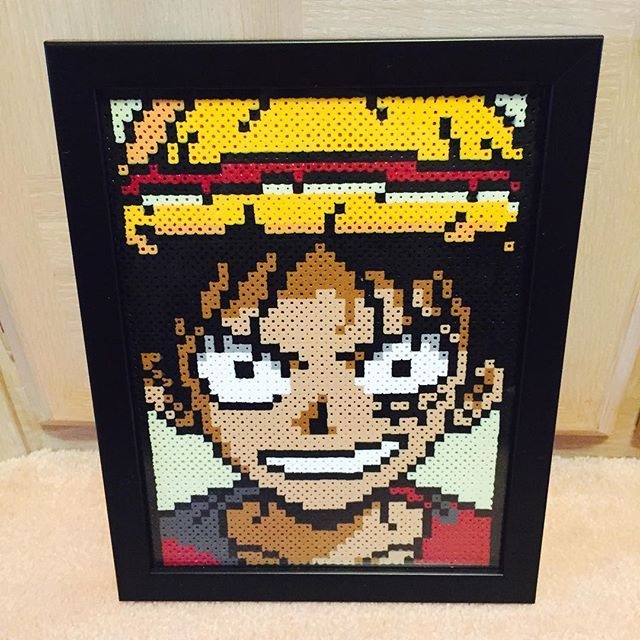 Gut bekannt Luffy - One Piece perler beads by christoperler | Geek | Pinterest  SU71