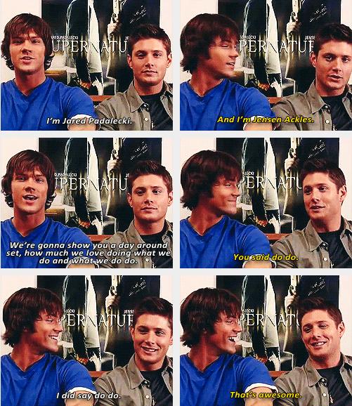 """(gif set) """"You said do do."""" So young and adorable."""