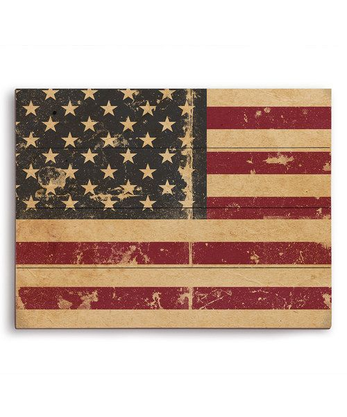 Look at this Destressed American Flag Wall Art on #zulily today!