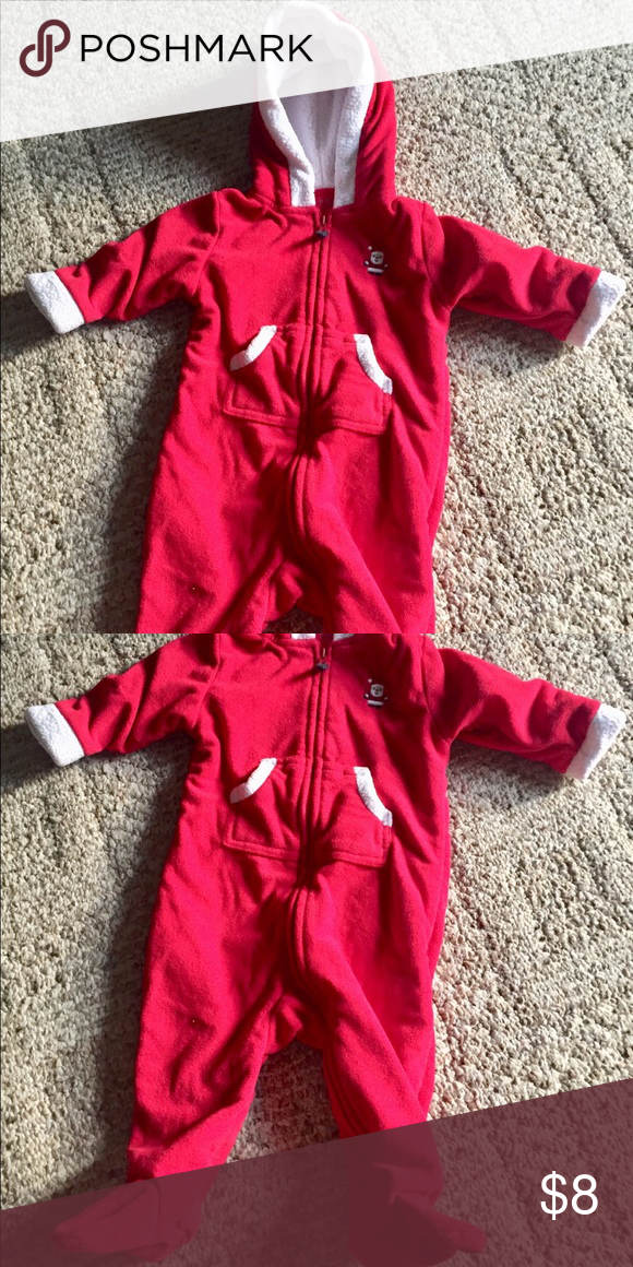 Cute Christmas outfit by Carter's in 6 months Adorable Christmas outfit by  Carter's in size 6 months . Nice warm outfit with zipper . 100% polyester. - Cute Christmas Outfit By Carter's In 6 Months My Posh Closet