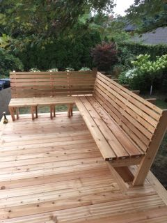 download original deck bench in 2019 cedar bench deck seating rh pinterest com