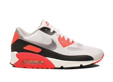 548747-106 Nike Air Max 90 Hyperfuse NRG InfraRouge Blanc Cement Gris  InfraRouge D05272