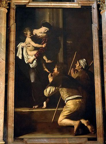 Madonna di Loreto -  in S.Agostino  Roma CARAVAGGIO Michelangelo Merisi (o Amerighi), noto come il Caravaggio (Milano, 29 settembre 1571 – Porto Ercole, 18 luglio 1610)  #TuscanyAgriturismoGiratola
