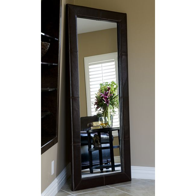 floor length mirrors can be placed in the corner of your room or leaned against a - Wood Frame Full Length Mirror