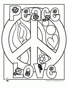 Peace Sign Coloring Pages Being A True Hippie Chick At Heart I