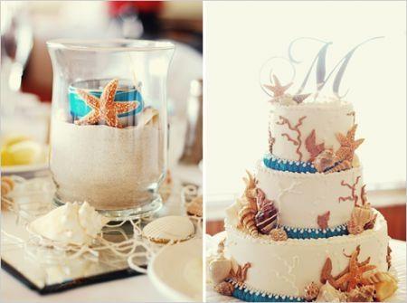 bodas conchas caracoles estrellas de mar y velas quedan