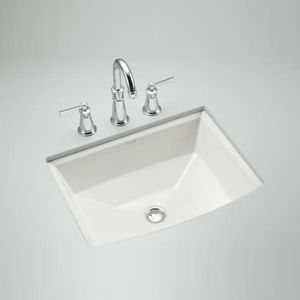 Kohler K2355-0 Archer Undermount Style Bathroom Sink - White