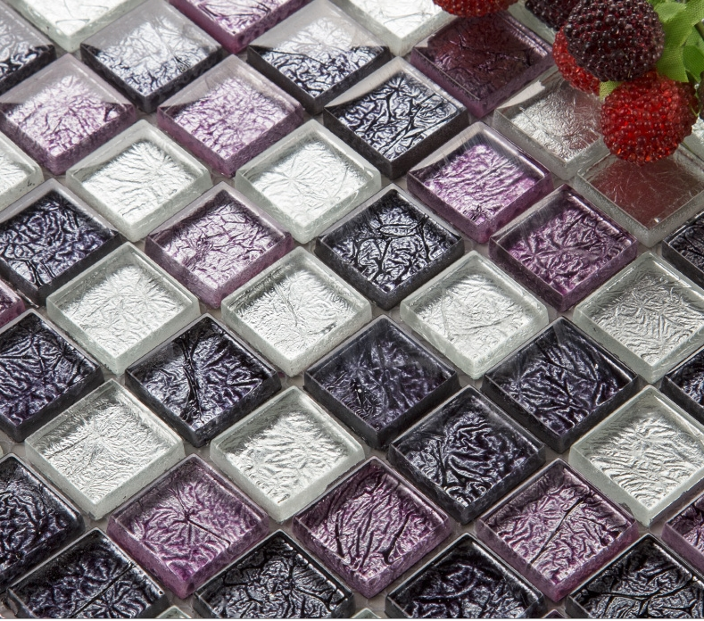 22 61 watch now purple silver foil glass crystal craft mosaic rh pinterest ca