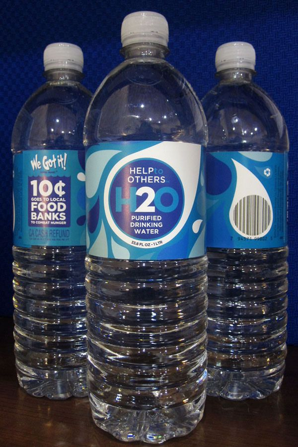 United Oil Introduces First Private Brand H2o Help To Others My Private Brand Water Bottle Design Water Packaging Branded Water Bottle