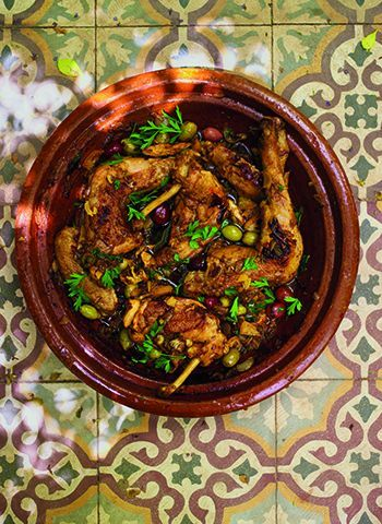 Moroccan chicken tagine with preserved lemons and olives mmmm chicken preserved lemon olive tagine recipe from a month in marrakesh by andy harris forumfinder Images