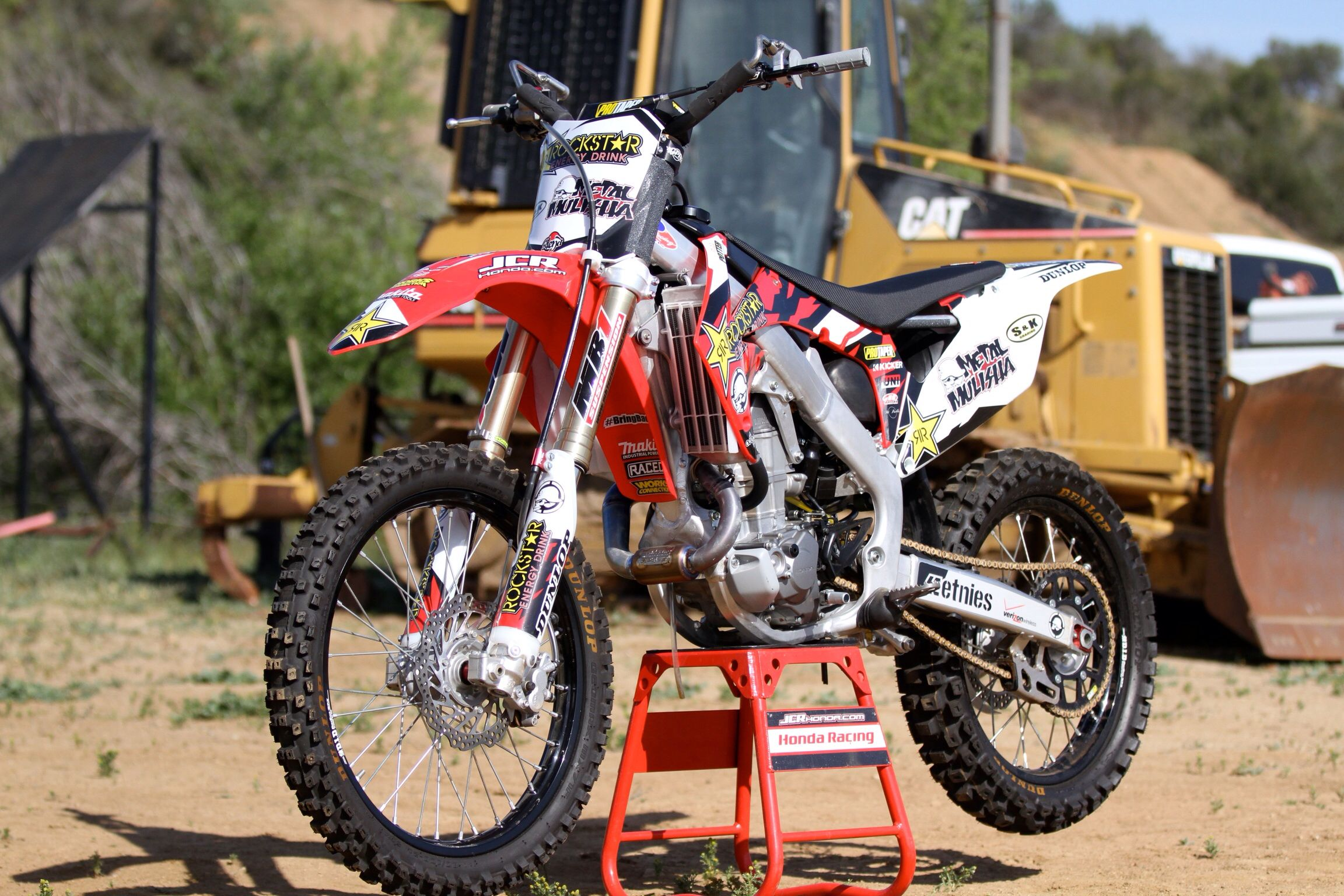 Two of my favorite things Dozer dirtbike Todd potter big boy