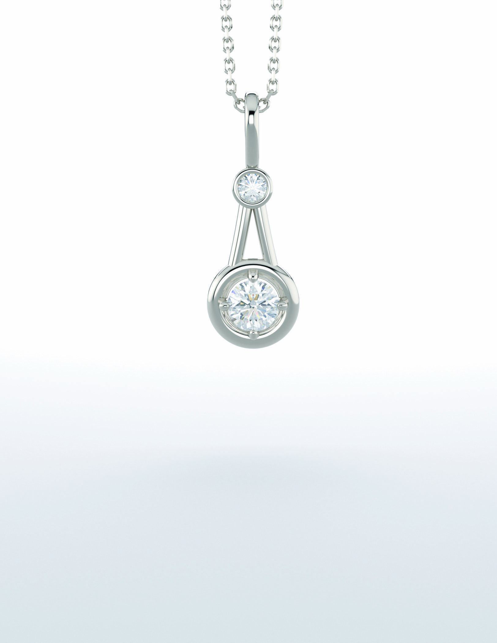 Diamond Pendant gifts Bezel set fashion