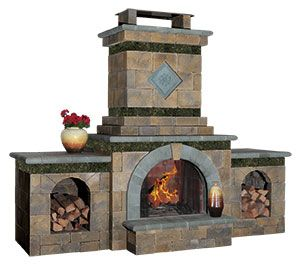 outdoor fireplace from cambridge pavingstones with armortec rh pinterest com