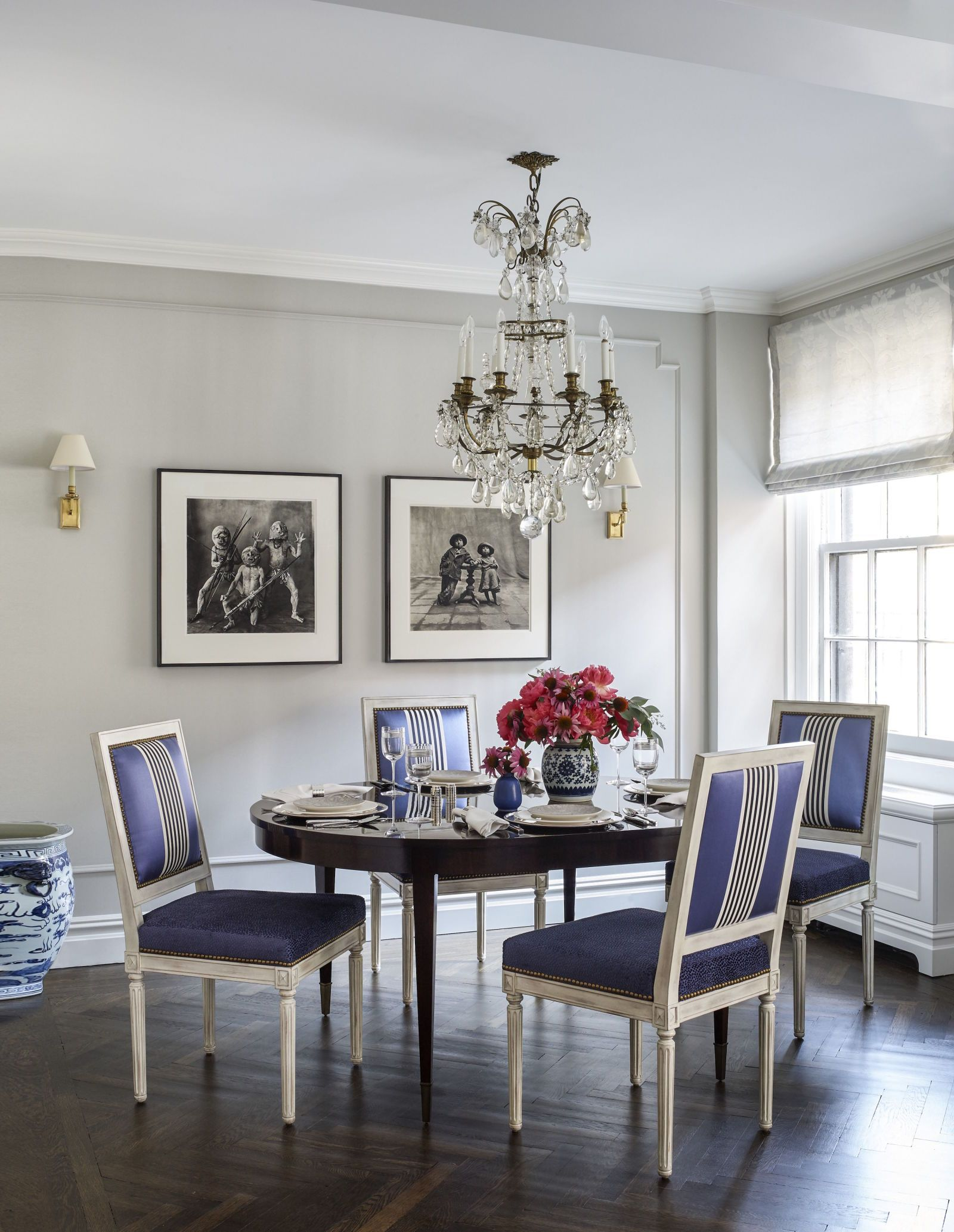 The Dining Room In Emmy Rossums NYC Apartment Chairs By Bernhardt Upholstered Fabrics