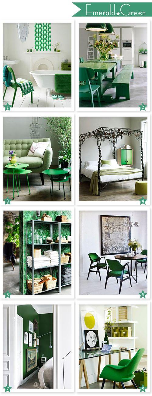 emerald green interior inspiration 2013 the year of emerald rh pinterest com