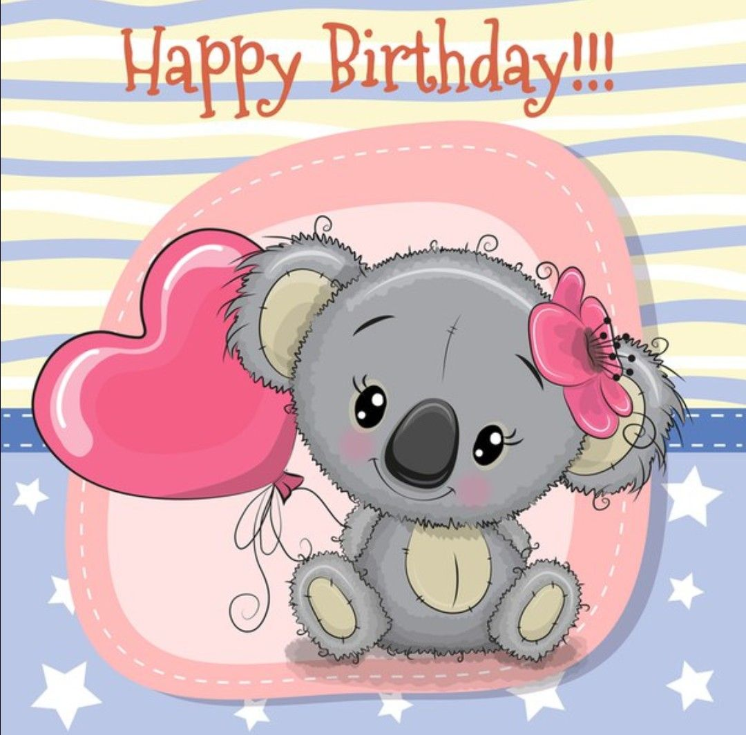 Pin By Adriana Rincon R On Felicitaciones De Cumpleanos Funny Baby Cartoon Birthday Illustration Its A Girl Balloons