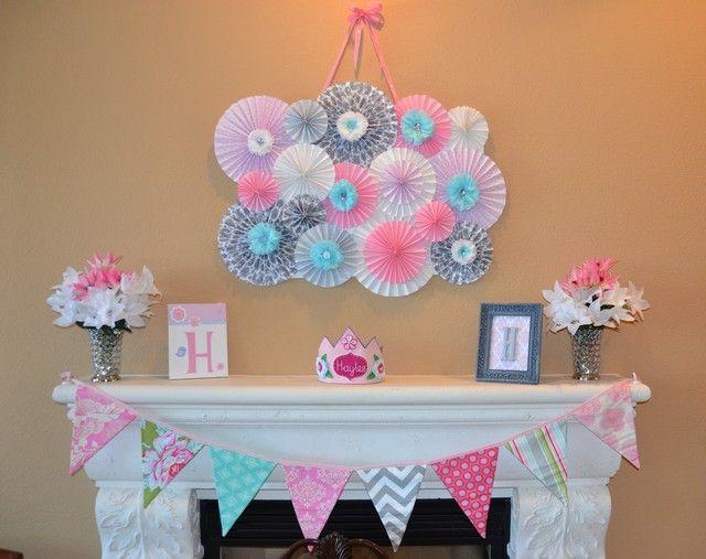 pink grey aqua baby shower party ideas baby baby shower rh pinterest com