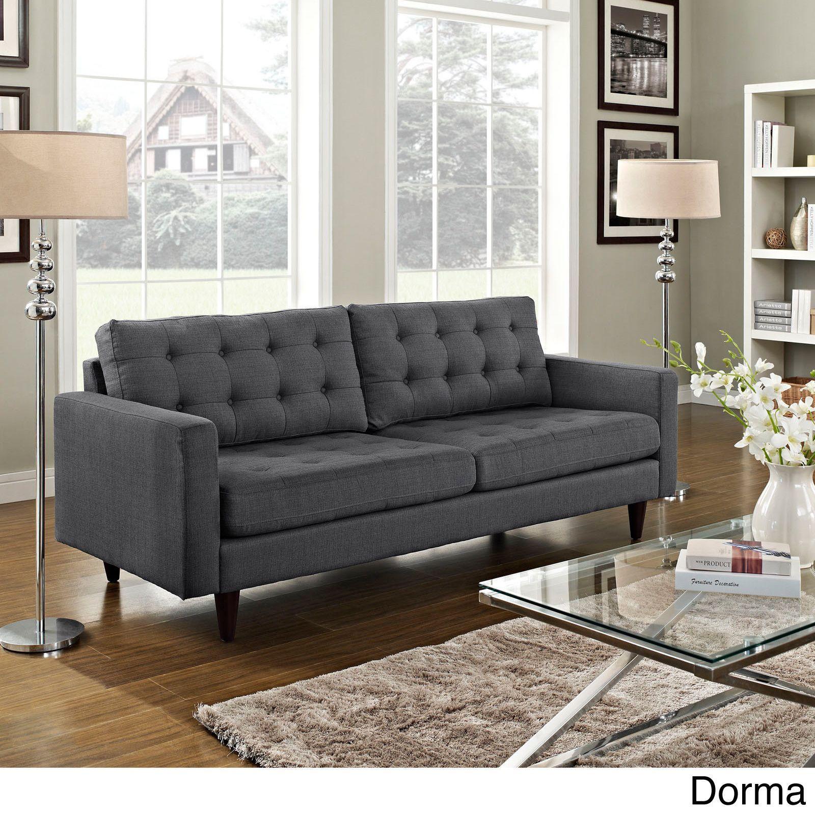 empress tufted upholstered sofa modern contemporary grey rh pinterest com