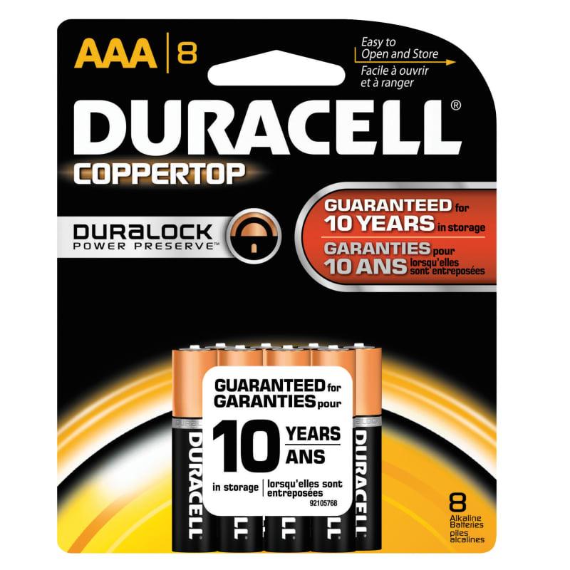 Duracell Dmn2400b8z Na Coppertop Saver Aaa Battery Package Of 8 Duracell Alkaline Battery Duracell Batteries