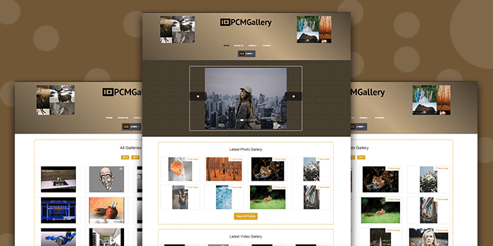 PHP Application Software for Photo Gallery Management