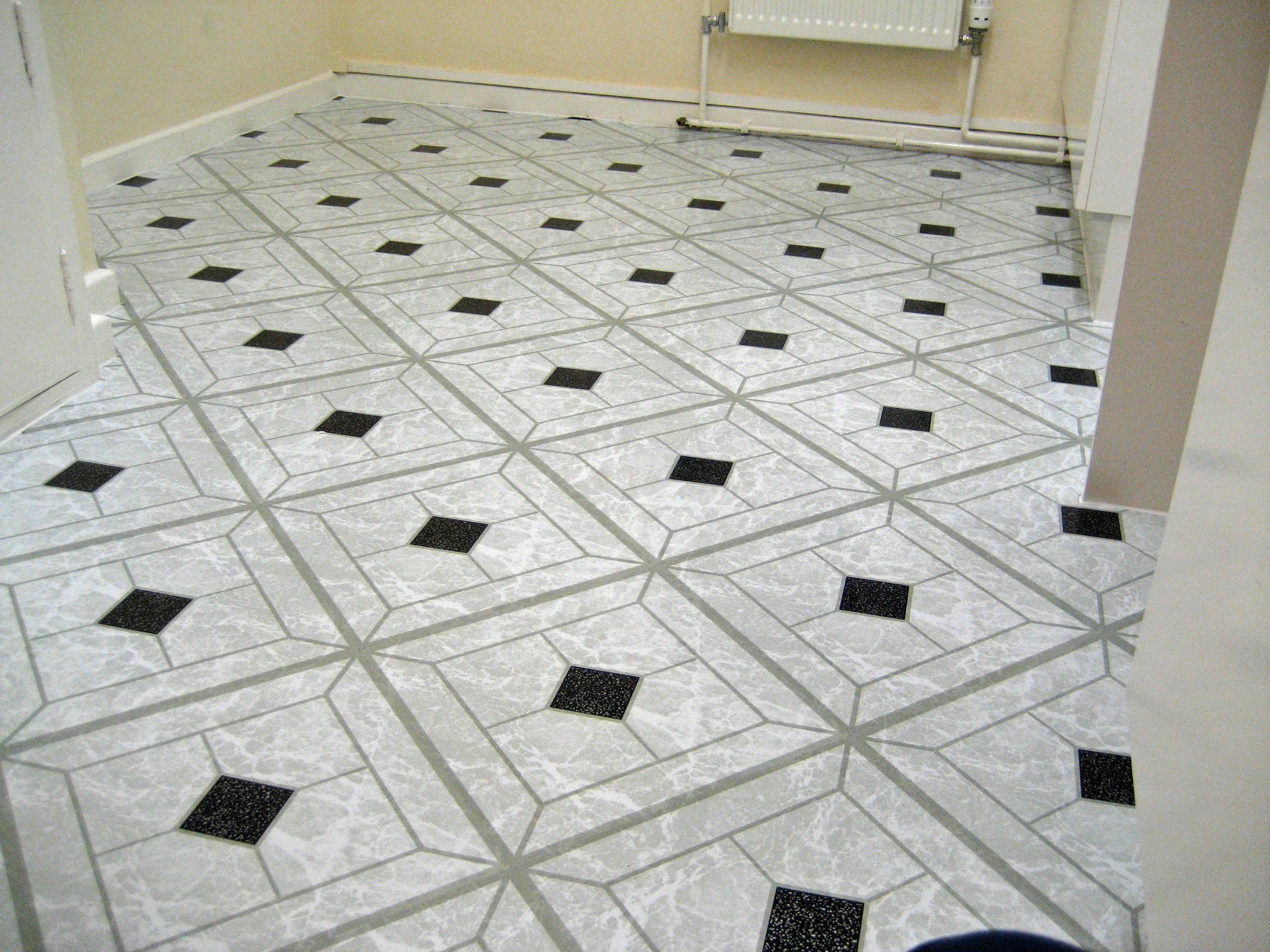 50 VINYL FLOOR TILES: Black/White Diamond SELF-STICK (Peel & Stick ...