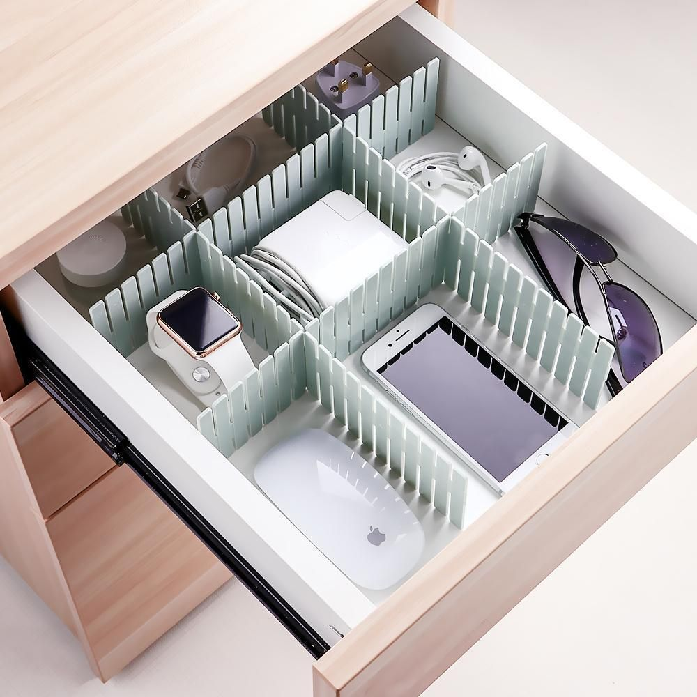 These Adjustable Drawer Organizers Are Fit For Any Kind Of Drawer An Ideal Tool To Divide Your D Drawer Divider Room Organization Bedroom Organization Bedroom