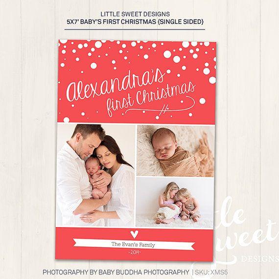 Babys Erste Weihnachtskarte Photoshop Vorlage Fur Fotografen Etsy Baby S First Christmas Card Christmas Card Photoshop Christmas Card Template