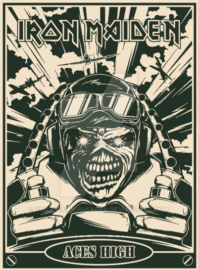 Iron Maiden Aces High Rock Music Photo Iron Maiden Iron
