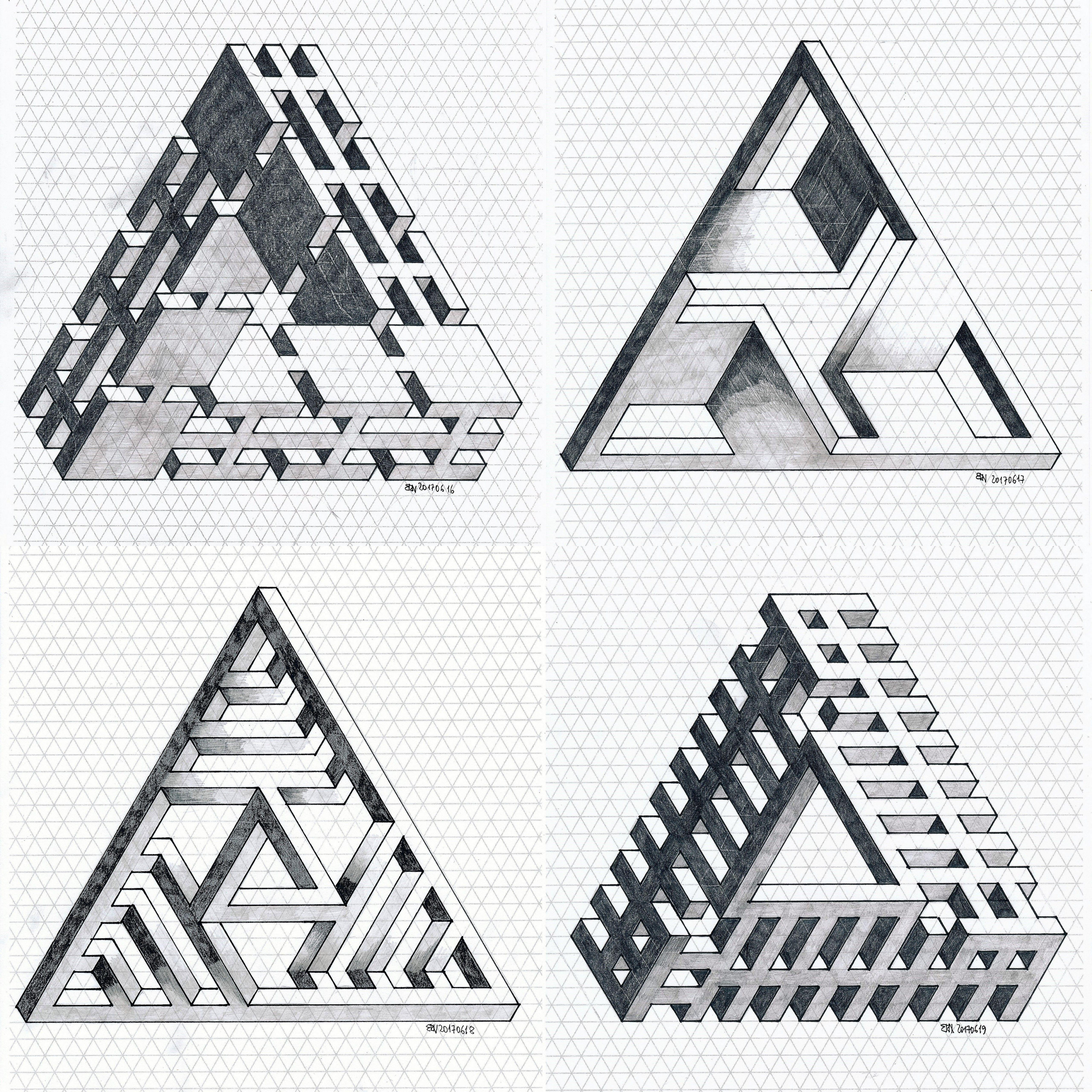 #isometric #impossible #penrosetriangle #mathart #regolo54