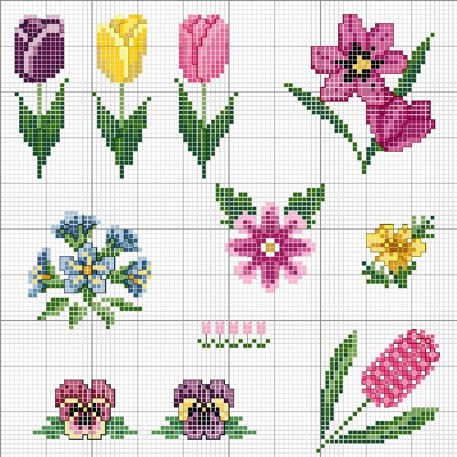 Flower perler bead patterns punto cruz pinterest