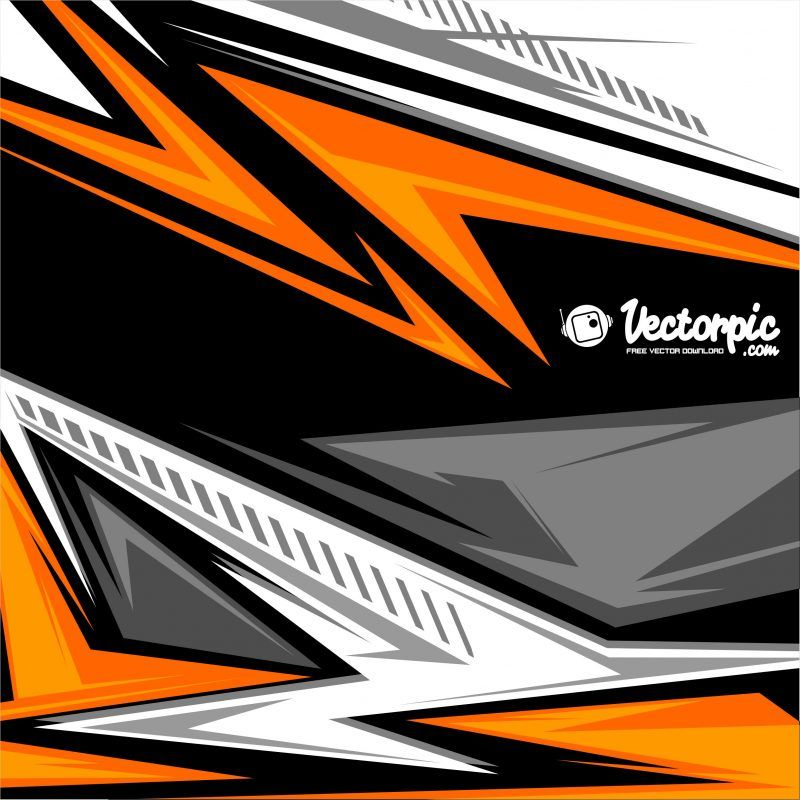 Abstract Racing Stripes Background With Yellow And Orange Color Free Vector 800x800 Jpg 800 800 Desain Grafis Ilustrasi Grafis Grafis