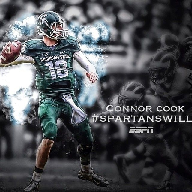 Connor Cook!  Congratulations on your Rose Bowl win.  Go Spartans!!!