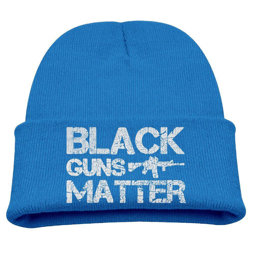 4646ca442a3 Black Guns Matter Nra Ar-15 Unisex Kids Warm Winter Hat Knit Beanie ...