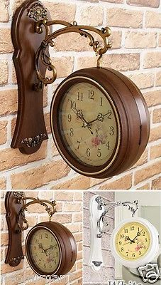 Antique Style Double Sided Interior Wall Clock Double Faced Vintage Home Deco Home Deco Vintage House Clock