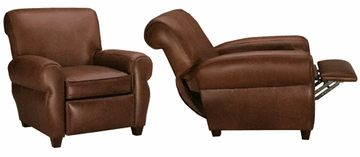 Parker Tight Back Leather Recliner Club Chair